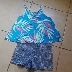 Blouse and shorts size 10/12